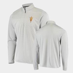 Arizona State Sun Devils Jacket Quarter-Zip For Men's Gray College UPF
