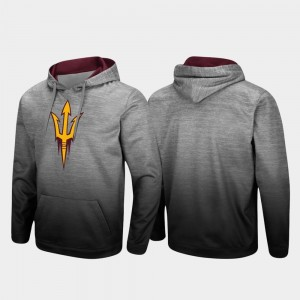 Arizona State Sun Devils Hoodie Pullover For Men Sitwell Sublimated Heathered Gray