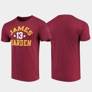 Arizona State Sun Devils James Harden T-Shirt College Basketball Men #13 Maroon Original Retro Brand College Alumni Basketball