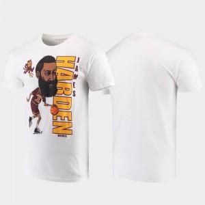 Arizona State Sun Devils James Harden T-Shirt White Original Retro Brand College Alumni Basketball Men #13 College Basketball