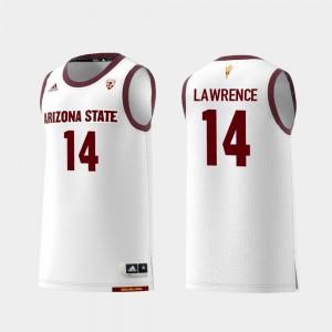 Arizona State Sun Devils Kimani Lawrence Jersey Mens College Basketball White #14 Replica
