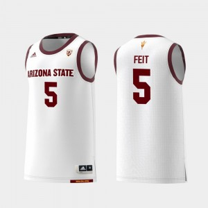 Arizona State Sun Devils Kyle Feit Jersey Replica Mens White College Basketball #5