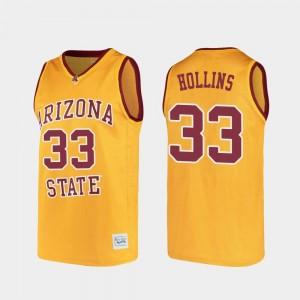 Arizona State Sun Devils Lionel Hollins Jersey Alumni College Basketball For Men #33 Gold