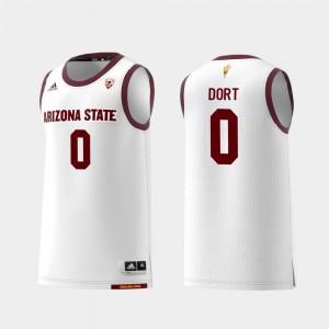 Arizona State Sun Devils Luguentz Dort Jersey For Men #0 White Replica College Basketball