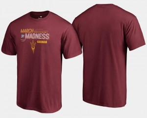 Arizona State Sun Devils T-Shirt Basketball Tournament Maroon 2018 March Madness Bound Airball Mens