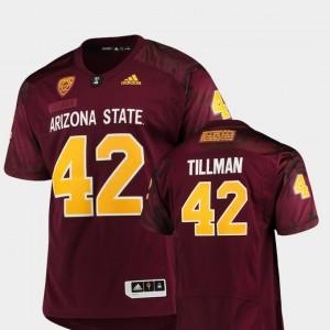 Arizona State Sun Devils Pat Tillman Jersey Maroon Game For Men #42 Special Premier