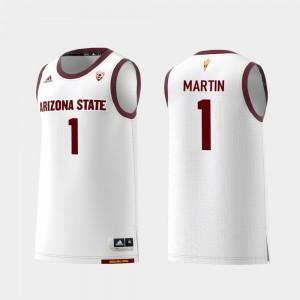 Arizona State Sun Devils Remy Martin Jersey Replica White College Basketball #1 Mens