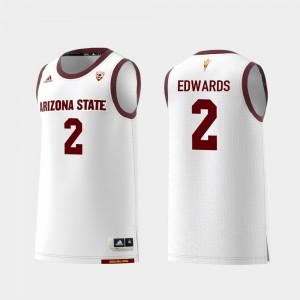Arizona State Sun Devils Rob Edwards Jersey White College Basketball Men #2 Replica