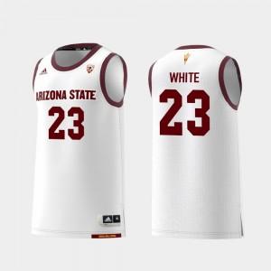 Arizona State Sun Devils Romello White Jersey #23 Mens College Basketball White Replica