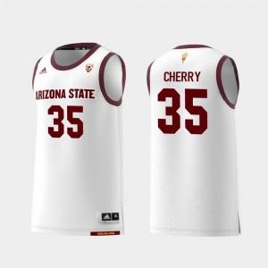 Arizona State Sun Devils Taeshon Cherry Jersey Replica College Basketball White Mens #35