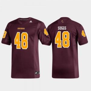 Arizona State Sun Devils Terrell Suggs Jersey Replica Maroon #48 Alumni Football For Men