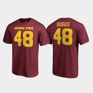Arizona State Sun Devils Terrell Suggs T-Shirt Name & Number Maroon #48 College Legends For Men