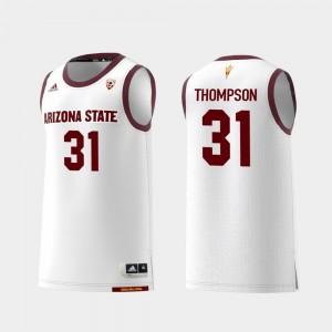 Arizona State Sun Devils Trevor Thompson Jersey Mens Replica White College Basketball #31