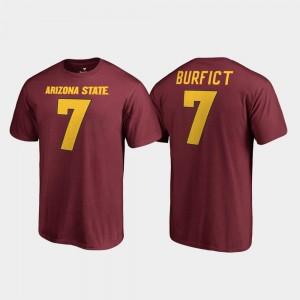 Arizona State Sun Devils Vontaze Burfict T-Shirt Maroon Name & Number #7 College Legends Men's