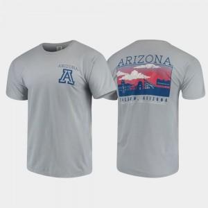 Arizona Wildcats T-Shirt Comfort Colors Gray Campus Scenery For Men