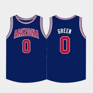 Arizona Wildcats Josh Green Jersey College Basketball Navy For Men #0