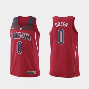Arizona Wildcats Josh Green Jersey Authentic Hyper Elite College Basketball Red #0 For Men