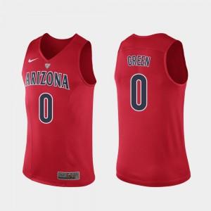 Arizona Wildcats Josh Green Jersey Authentic #0 Hyper Elite Performance Mens Red