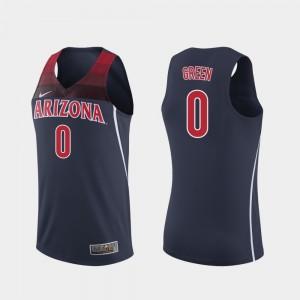 Arizona Wildcats Josh Green Jersey Mens #0 Replica Navy College Basketball