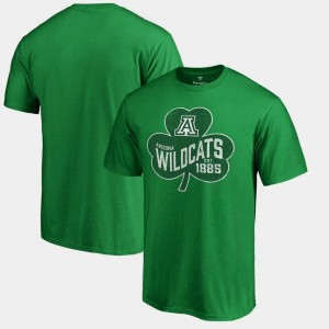 Arizona Wildcats T-Shirt St. Patrick's Day For Men Kelly Green Paddy's Pride Big & Tall