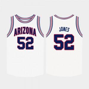 Arizona Wildcats Kory Jones Jersey #52 White College Basketball Men
