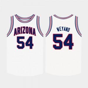 Arizona Wildcats Matt Weyand Jersey Mens College Basketball #54 White