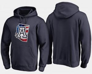 Arizona Wildcats Hoodie Mens Navy Big & Tall Banner State