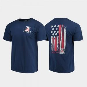 Arizona Wildcats T-Shirt Baseball Flag Comfort Colors Men Navy