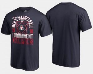 Arizona Wildcats T-Shirt 2018 Pac-12 Champions Basketball Conference Tournament Men's Navy