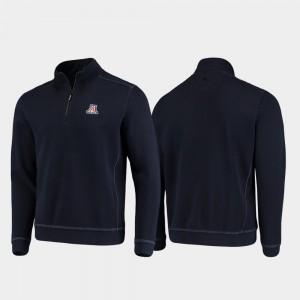 Arizona Wildcats Jacket For Men's Half-Zip Pullover Tommy Bahama Navy College Sport Nassau