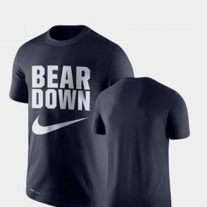 Arizona Wildcats T-Shirt Navy Performance Legend Franchise For Men's