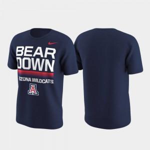 Arizona Wildcats T-Shirt Navy Local Verbiage For Men Performance