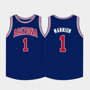 Arizona Wildcats Nico Mannion Jersey Navy College Basketball Mens #1