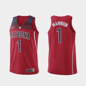 Arizona Wildcats Nico Mannion Jersey Authentic Red Men #1 Hyper Elite College Basketball