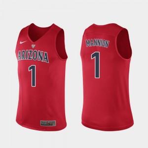 Arizona Wildcats Nico Mannion Jersey Hyper Elite Performance Authentic For Men's #1 Red
