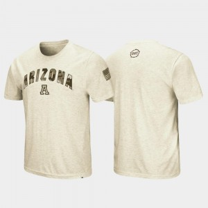 Arizona Wildcats T-Shirt Oatmeal OHT Military Appreciation For Men Desert Camo
