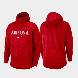 Arizona Wildcats Hoodie Basketball Team Logo Pullover Spotlight For Men Red
