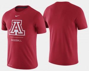 Arizona Wildcats T-Shirt Red For Men's Dugout Performance College Baseball