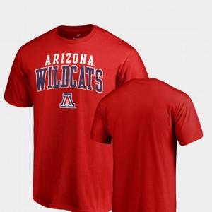 Arizona Wildcats T-Shirt Square Up Red Men