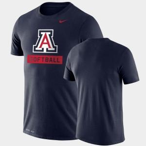 Arizona Wildcats T-Shirt Navy Drop Legend Performance Softball Mens