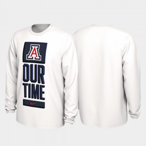 Arizona Wildcats T-Shirt White Our Time Bench Legend Mens 2020 March Madness