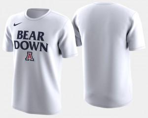 Arizona Wildcats T-Shirt White Mens Basketball Tournament 2018 March Madness Bench Legend Performance
