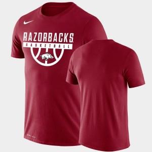 Arkansas Razorbacks T-Shirt Performance Basketball Cardinal Drop Legend Men