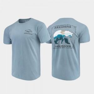 Arkansas Razorbacks T-Shirt Comfort Colors For Men State Scenery Blue