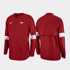 Arkansas Razorbacks Jacket Quarter-Zip Cardinal 2019 Coaches Sideline Men