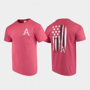 Arkansas Razorbacks T-Shirt Cardinal Baseball Flag Comfort Colors For Men
