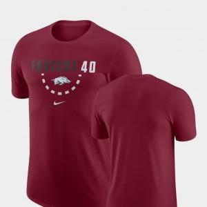 Arkansas Razorbacks T-Shirt Men Basketball Team Cardinal