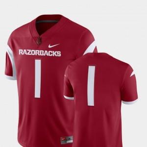 Arkansas Razorbacks Jersey #1 2018 Game College Football For Men Cardinal