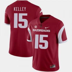 Arkansas Razorbacks Cole Kelley Jersey Cardinal #15 College Football For Men's