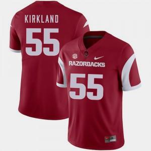 Arkansas Razorbacks Denver Kirkland Jersey College Football Cardinal #55 Men